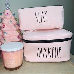 Rae Dunn Pink SLAY & MAKEUP Cosmetic Makeup Bags💖